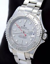 Rolex Yacht Master 168622 35mm Steel Oyster Perpetual Platinum Bezel Watch PAPER