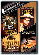 Shane, The Searchers, Wild Bunch, Gunfight at the O.K. Corral DVD New