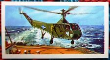 Brooke Bond History of Aviation tea card 27 Sikorsky R-4 Hoverfly Helicopter.