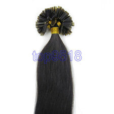 """100S 16""""-26"""" Remy Nail U Tip Pre-Bonded Keratin Glue Remy Human Hair Extensions"""