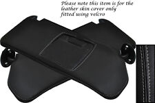 GREY STITCHING FITS SUZUKI VITARA 1988-1998 2X SUN VISORS LEATHER COVERS ONLY