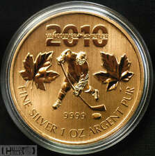 2010 Olympic $5 Silver 1 oz. Maple Leaf  - Gold Plated