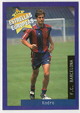 Panini 1996 Estrellas Europeas Spanish Issue Card Meho Kodro Barcelona