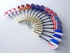 18 pcs (6 sets)  #B Steel Needle Tip Dart With National Flag Flight Flights