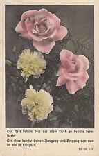 177/ AK Ansichtskarte Religion Blumenkarte Spruchkarte Psalm 121 7.8    Blumen