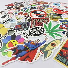 50 Pieces Stickers Skateboard Sticker Graffiti Laptop Luggage Car Decals mix SP
