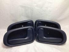 Set of 4 Inside Door Handle Dark Blue for 93-97 Toyota Corolla