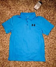 NWT UNDER ARMOUR BOYS YOUTH MEDIUM  MATCHPLAY POLO SHIRT