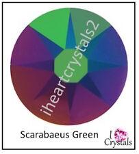 Scarabaeus Green 12ss 3mm 144 pieces Swarovski Crystal Flatback Rhinestones 2088