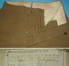 """Original Large 1924 dated U.S. Army Officer Wool Breeches - 34"""""""