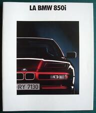 BMW 850i Car LF Sales Brochure Jan 1990 FRENCH TEXT # 011080130 1/90 VM