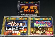 Karaoke THREE (3) CD Lot Nsync Backstreet Boys Britney Spears Christina Aguilera