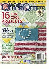 Mc CALL'S QUICK QUILTS,  JUNE / JULY, 2013 ( 16 FUN COOL PROJECTS * EASY LESSONS