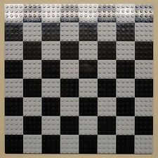 x64 NEW Lego Plates 4x4 LT Gray & Black Baseplates MAKES CHESS Game Board