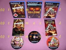 3x PS2 _ Mercenaries 2 World in Flames & Killzone & Gladiator Sword Of Vengeance