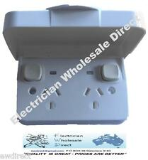 *NEW* Weatherproof Double GPO LID Power Point DOUBLE POLE NEON IP65 EXTRA SAFE