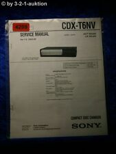 Sony Service Manual CDX T6NV CD Changer (#4208)