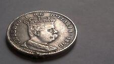 ITALIE 1 LIRE (TALLERO) COLONIE ERITREA UMBERTO 1er 1890 SUP (RARE) Argent