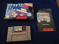Tetris Attack (Super Nintendo SNES, 1996) COMPLETE w/ Box manual game WORKS!