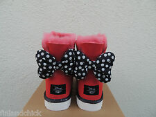 UGG RED DISNEY MINNIE SWEETIE BOW SHEEPSKIN BOOTS,  WOMENS US 8/ EUR 39~ NIB
