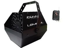 Ibiza Black Battery Powered Rechargeable Bubble Machine + Wireless Remote