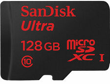 SanDisk Ultra MicroSDXC 128 GB Class 10 Memory Card 80 MB/s  With Adapter 128GB.