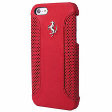 Ferrari Genuine Official Red Leather Hard Case iPhone 5 / 5S  FEF12HCP5RE