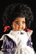 "Rare 16"" Vinyl Engel Puppe Toddler Doll African American Global West Germany"