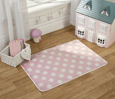 FLAIR Rugs Nursery Stampa Pois Tappeto per bambini, Rosa, 70 x 100 cm