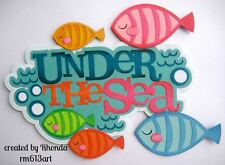 OCEAN SEA LIFE Summer Paper Pieced Premade Scrapbook  Die Cut Rhonda rm613arT