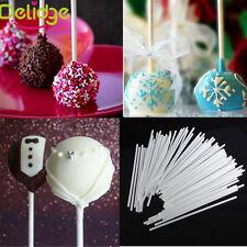 50pcs 15cm White Lollipop Sucker Paper Sticks Chocolate Cake Candy Sugar Tool