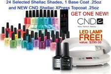 CND LED Lamp Light 3C Technology & Shellac Rainbow Kit -Base/Xpress Top 24 Color