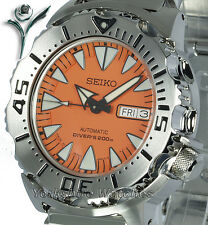 New SEIKO SUPERIOR ORANGE MONSTER With STAINLESS STEEL BRACELET SRP309J1 SRP309