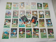 Collection of 30 cards From - The  Wonderful World Of Soccer Stars In Action
