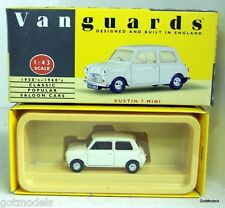 LLEDO 1/43 - VA13001 AUSTIN 7 MINI IN WHITE DIECAST MODEL CAR