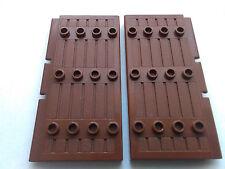 LEGO 2 x BROWN  DOORS STOCKADE 1 X 5 X 7 1/2