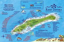 Little Cayman Island Dive Map & Reef Creatures Guide Laminated Fish Card