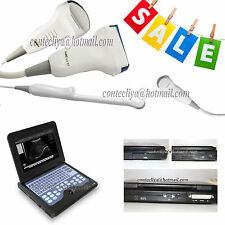 New LCD Portable Laptop Ultrasound scanner Diagnostic machine 3 Probes, CMS600P2