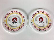 """2 Vintage 1980 McDonalds Ronald McDonald Pocket Flyer 8"""" Frisbee Flying Disc Toy"""