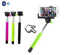 Green Monopod Selfie Stick Telescopic & Bluetooth Wireless Remote Mobile holder