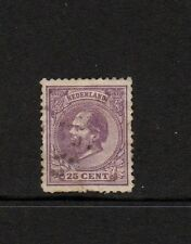 NETHERLANDS 1872 25c LILAC USED