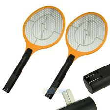 2 x Cordless Rechargeable Bug Zapper Mosquito Insect Electric Fly Swatter Orange