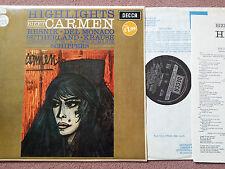 SXL 6156 Bizet Carmen Suisse Romande Thomas Schippers LP