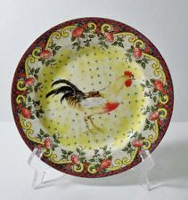 """American Atelier PETITE PROVENCE 8-1/8"""" (Rooster A) Salad/Desert Plate MINT"""
