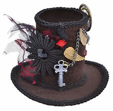 Steampunk MINI Top Hat Stovepipe Gotico PAZZO Cappellaio Halloween