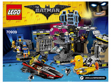 NEW INSTRUCTIONS ONLY LEGO BATMAN BATCAVE BREAK-IN 70909 books manuals from set