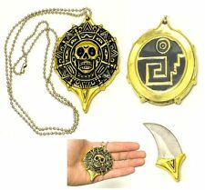 Pirates of the Caribbean Mayan Skull Coin Pendant / Neck knife