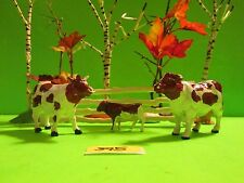 Sweet Family of Vintage 1967 Britain's Ltd. Ayrshire Dairy Cows! #395