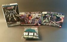 3 Bandai Gundam models w/ Action Base 1