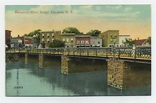 Potsdam, NY postcard - Raquette River bridge